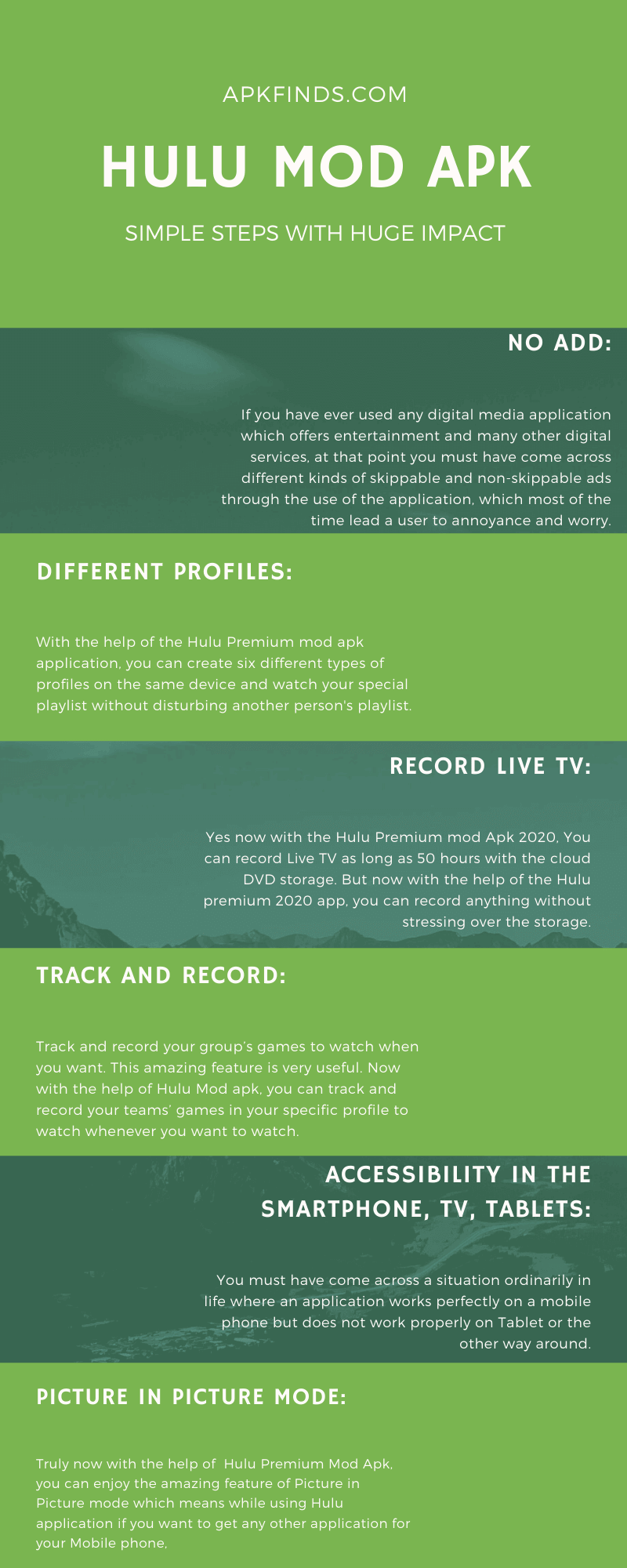 hulu mod apk infographics