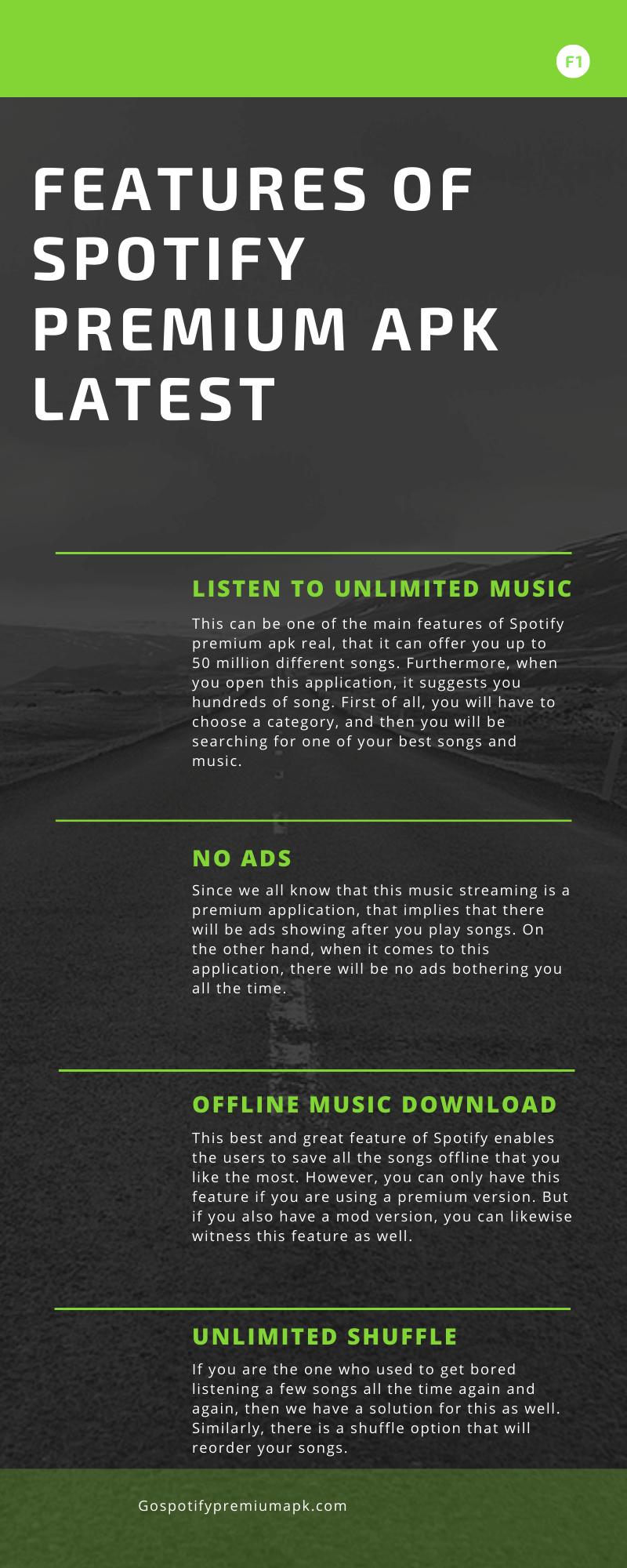spotify premium apk infographics